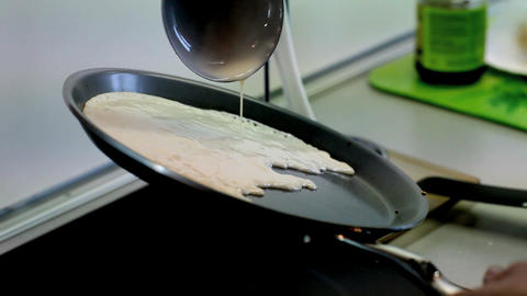 Pancakes stock footage