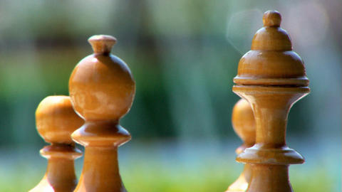 Chess Pieces Water Background Loopable Stock Video Footage