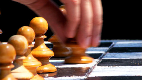 Chess Game First Move Stock Video Footage
