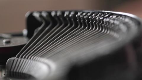 CU Typewriter Stock Video Footage