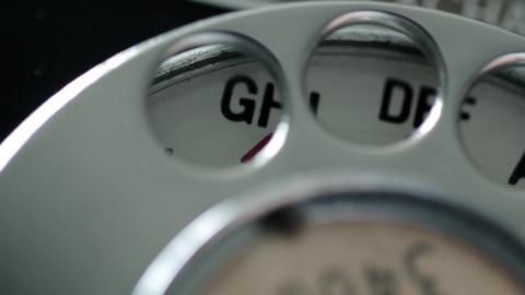 CU Telephone Dial Stock Video Footage