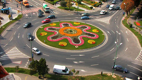 Roundabout Summer Stock Video Footage