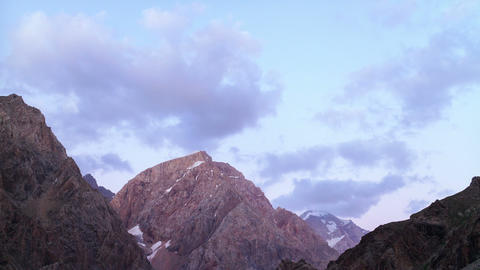 Clouds over the mountains. TimeLapse. Pamir, Tajik Footage