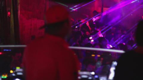 Night Disco Party DJ Footage