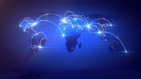 Growing Global Business Network Animation