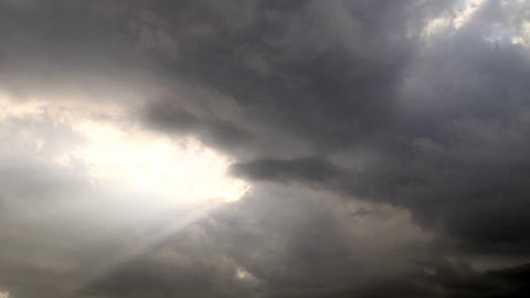 Scary Storm Clouds At Sunset stock footage