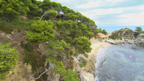 Aerial Drone View Mediterranean Beach 04 stock footage