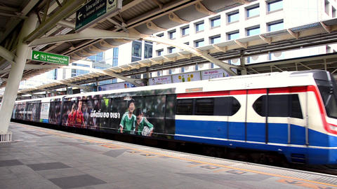 Thailand, Bangkok, Sky Train Station Footage