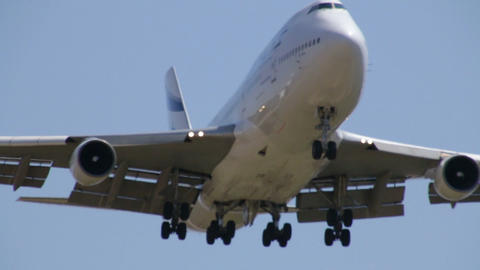 Commercial Jet Plane in Flight Live Action
