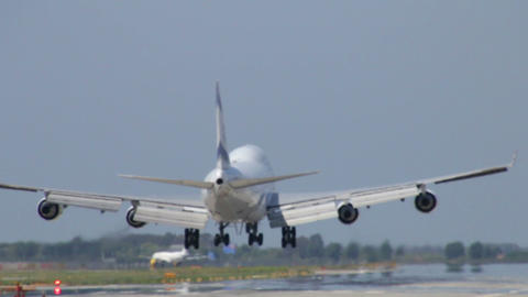 Commercial Jet Plane Landing stock footage