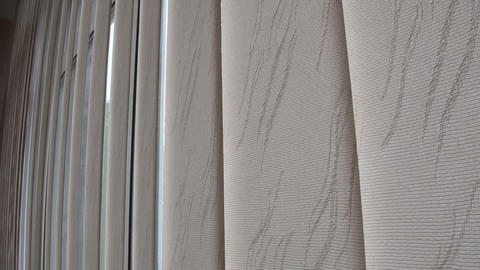 Window blinds, curtains Footage