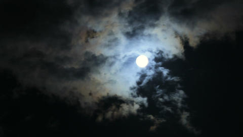 Full Moon and Clouds 04 Live Action