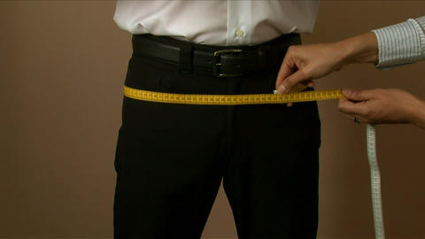 Tailor Hips Measuring 01 stock footage
