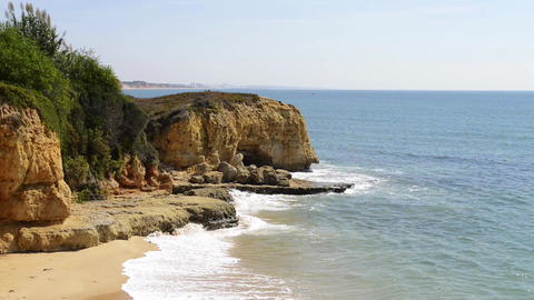 Maria Luisa Beach In Albufeira, Portugal stock footage