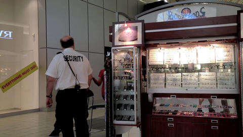 Security routine checking booth inside the mall Footage