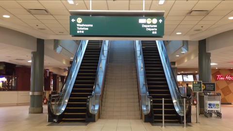 Close-up of empty modern escalator Footage