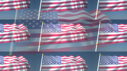 Waving US Flag With Nice Effects stock footage