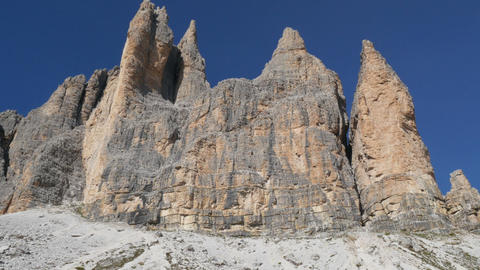 people hiking dolomites alps tre cime de 11510 Footage