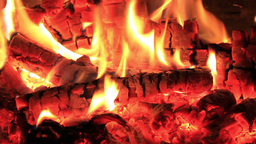 Wood burning fireplace Footage