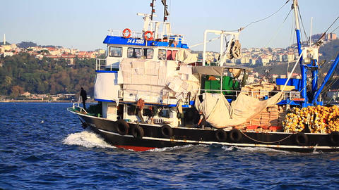 Seiner fishing boat for Black Sea Footage