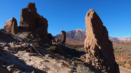 Teide Peak and Garcia Rocks in Teide National Park Footage