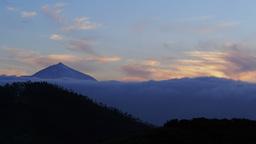 Timelapse Of Teide Peak On Tenerife, Canary Island stock footage