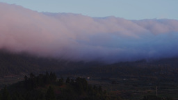 Waterfall of clouds on La Palma, Canary Islands, S Footage
