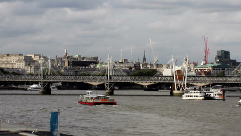 Ferry Cruises On The River Thames 3 stock footage