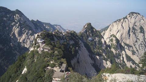Huashan Mountains Landscape stock footage