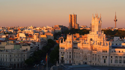 Alcala Street and The Cybele Palace on Cibeles Sq Footage
