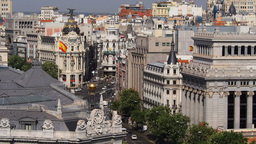 View from TheCybele Palace in Madrid Live Action