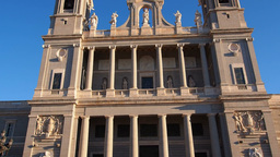 Almudena Cathedral In Madrid stock footage