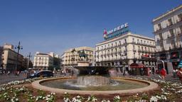 Puerta del Sol – Sol Square in Madrid Stock Video Footage