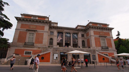 Prado Museum In Madrid, Spain stock footage