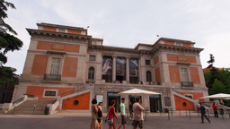 Prado Museum In Madrid stock footage