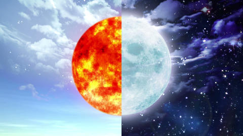Sun and moon Animation