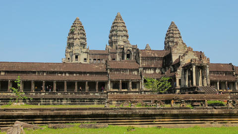 Angkor Thom wat temple in cambodia - architectural Footage