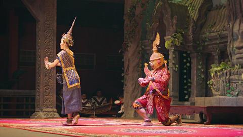 SIEM REAP. CAMBODIA - 23 DEC 2013: Apsara Cambodia Live Action