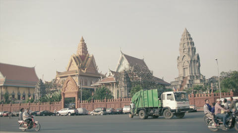 PHNOM PENH. CAMBODIA - 29 DEC 2013: Asian transpor Footage