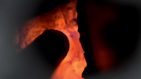 Red Hot Coals Flaming stock footage
