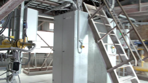 The view inside a machine with cables Footage