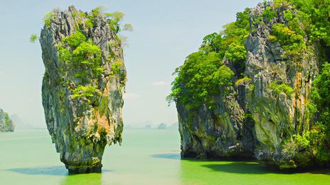 James Bond island (Ko Tapu). Phang Nga. Thailand Footage