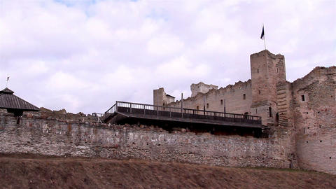 An old castle from medieval era Footage