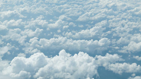 View from the airplane. Clouds at a height of seve Footage