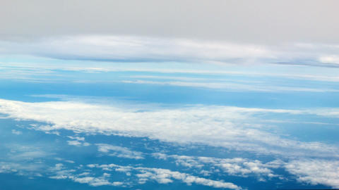View From The Airplane. Clouds Above And Below stock footage
