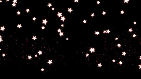 Glitter and Stars Decoration Background Red Animation