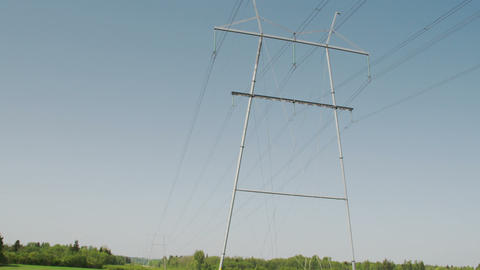 An electric posts with wires FS700 4K Odyssey7Q Footage