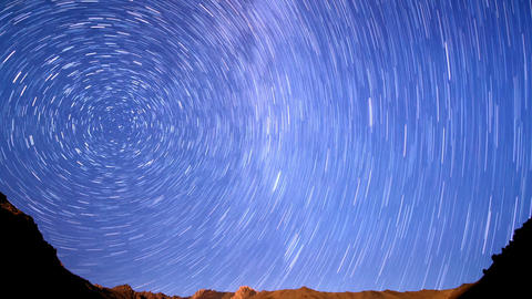 Milky Way in the mountains. Line. Time Lapse. 1280 Live Action