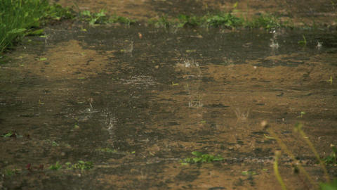 Raindrops coming from the rain FS700 4K Odyssey7Q Footage
