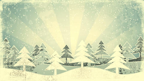 christmas winter scene grunge loopable animation Animation
